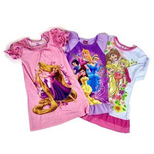 Disney Pajama Nightgown Bundle XS 3T/4 Rapunzel